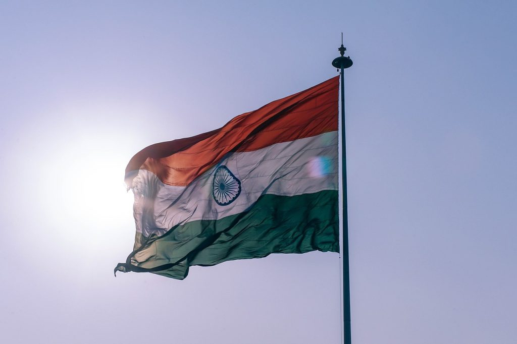 Delhi, India flag