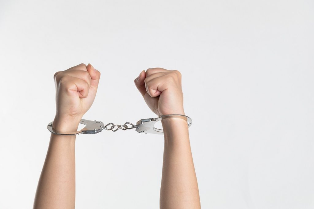 handcuffs representing the arrests of cannabis farmers in South Africa