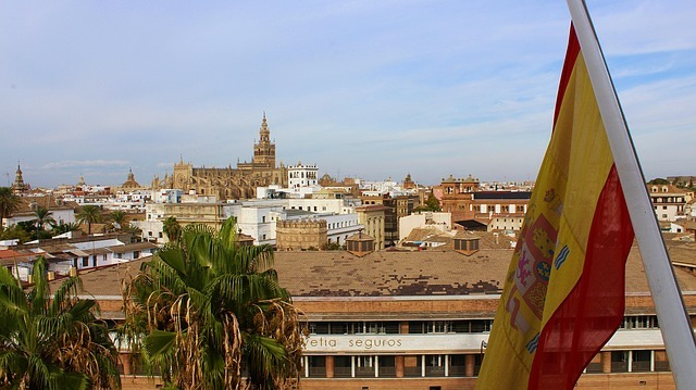 A picture of Seville representing cannabis in Spain